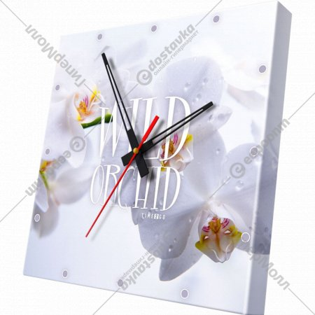 Часы настенные «Орхидея белая».