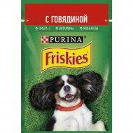 Корм для взрослых собак «Friskies» кусочки с говядиной в подливе,85г.