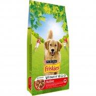 Корм «Friskies» для активных собак, мясо, 4 кг.