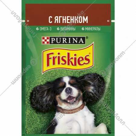 Влажный корм «Friskies» для взрослых собак, с ягненком, 85 г.