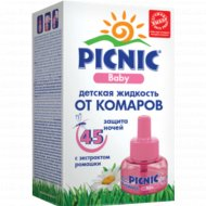 Жидкость «Picnic» Baby от комаров, 45 ночей, 30 мл.