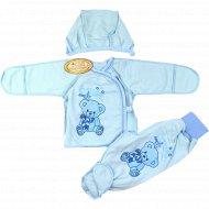 Комплект детский (ползунки, распашенка, чепчик), размер 62-40.