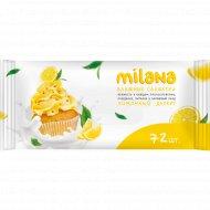 Влажные салфетки «Milana» антибактериальные, лимонный пирог, 72 шт.