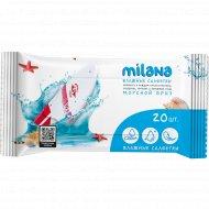 Влажные салфетки «Milana» антибактериальные, морской бриз, 20 шт.