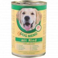 Корм для собак «Dog Menu» с говядиной, 415 г.