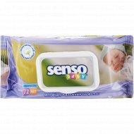 Влажные салфетки «Senso Baby» с клапаном, 72 шт.