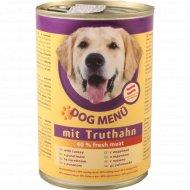Корм для собак «Dog Menu» с индейкой 415 г.