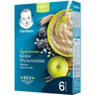 Каша «Gerber» мультизлаковая, яблоко, чернослив, 180г.
