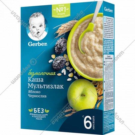 Каша «Gerber» мультизлаковая, яблоко, чернослив, 180 г.