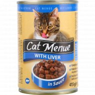 Корм для кошек «Сat Menu» с печенью, 415 г.