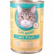 Корм для кошек «Cat Menu» с рыбой, 415 г.