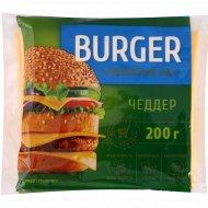 Сыр плавленый «Burger» Чеддер, слайсы 45% 200 г.