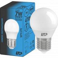 Светодиодная лампа G45, 7W, E27, 3000K.