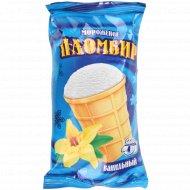 Мороженое «Пломбир ванильный» в вафельном стаканчике, 80 г.