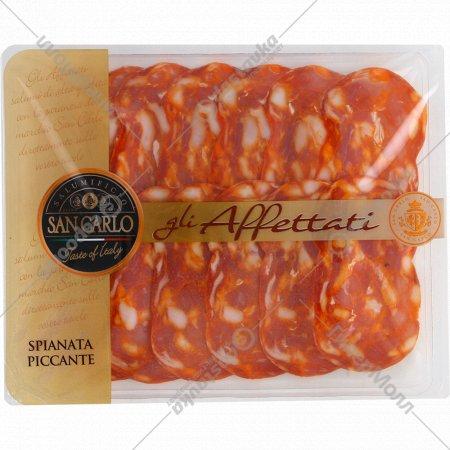 Колбаса салями «Spianata Piccante» сыровяленная, 100г.
