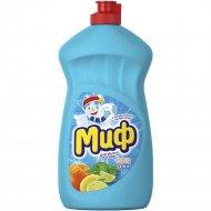 Средство для мытья посуды «Миф» свежесть цитрусов, 500 мл.