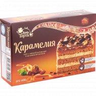 Торт «Карамелия» с карамельной начинкой и фундуком, 400 г.