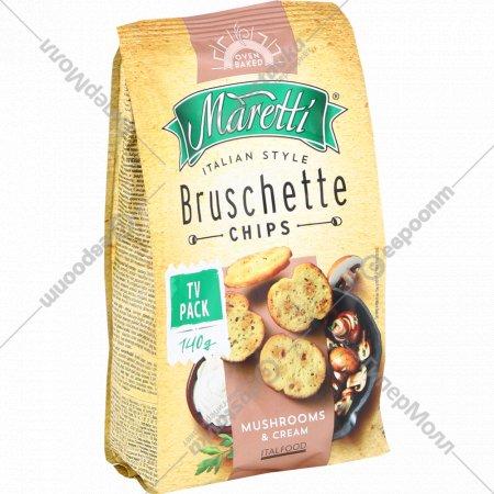 Печеные Хлебные ломтики «Bruschette» грибы со сметаной, 140 г.