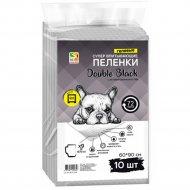 Пеленки для собак «Double Black» с углем, 60х90 см, 10 шт.