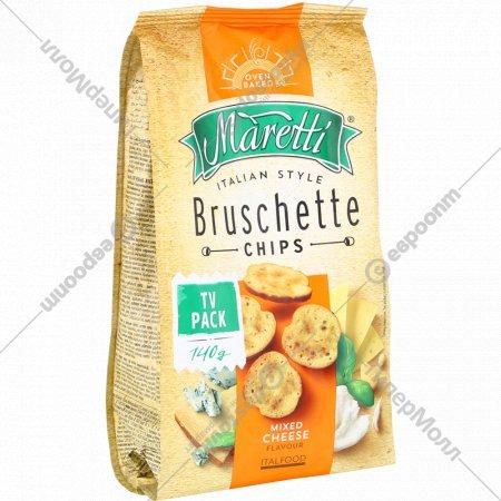 Печеные хлебные ломтики «Bruschette» сырный микс, 140 г.