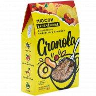 Мюсли запеченные «Granola» с арахисом, ананасом и клюквой, 270 г.
