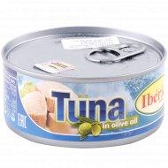 Рыбные консервы «Тунец полосатый» в оливковом масле, 160 г.