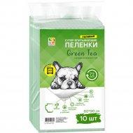 Пеленки для собак «Green Tea» 60х90 см, 10 шт.