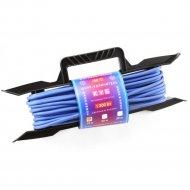 Удлинитель на рамке «PowerCube» PC-E1-F-10-R, 6А, синий