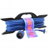 Удлинитель на рамке «PowerCube» PC-E1-F-20-R, 6А, синий