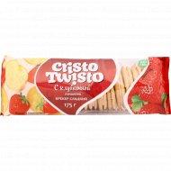 Крекер сладкий «Кристо-Твисто» с клубничной начинкой, 175 г.