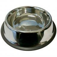 Миска металлическая со съемным силиконовым основанием, 0.7 л.