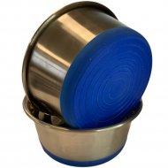 Миска металлическая утяжеленная с силиконовым дном, 0.4 л.