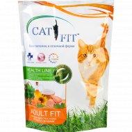 Корм «Cat Fit» c птицей и овощами 400 г.