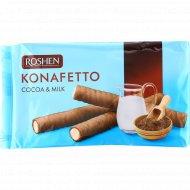 Вафельные трубочки «Roshen» Konafetto, какао и молоко, 156 г.