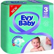 Подгузники «Evy Baby» размер 3 midi, 5-9 кг, 27 шт.