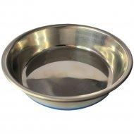 Миска-блюдце металлическая с силиконовой резинкой, 0.235 л.