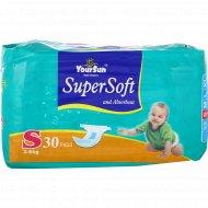 Подгузники детские «YourSun» размер S, 3-6 кг, 30 шт.