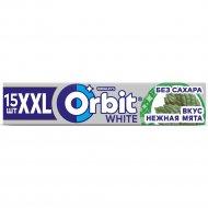 Жевательная резинка «Orbit White XXL» нежная мята, 15 шт, 20.4 г.