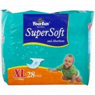 Подгузники детские «YourSun» размер XL, 11-25 кг, 28 шт.