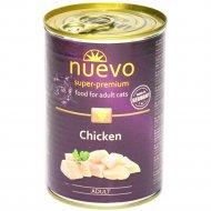 Консервы для взрослых кошек «Nuevo» с курицей, 400 г.