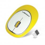 Мышь беспроводная «Crown» CMM-931W, желтый.