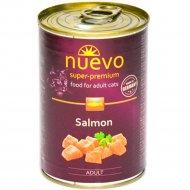 Консервы для взрослых кошек «Nuevo» с лососем, 400 г.