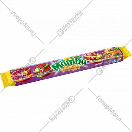 Жевательная конфета «Mamba» 2 в 1, 106 г.