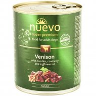 Консервы для собак «Nuevo» с олениной и сафлоровым маслом, 400 г.