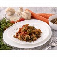 Чечевица с овощами и грибами 150  г.