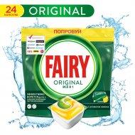 Капсулы для посудомоечных машин «Fairy» Original All in One, 24 шт
