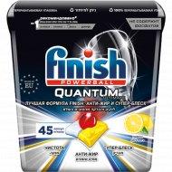 Средство для посудомоечных машин «Finish» лимон, 45 капсул.