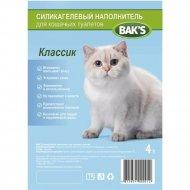 Силикагелевый наполнитель для кошачьих туалетов «Bak's» 4 л, 1.6 кг.
