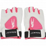 Перчатки «Леди1» размер L, цвет бело-розовые, для команд.