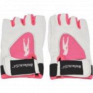 Перчатки «Леди1» размер M, цвет бело-розовые, для команд.